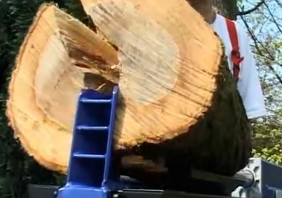 Holz gespaltet