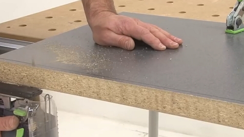 Küchenplatte sägen